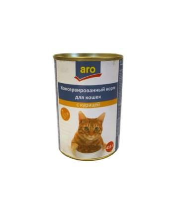 Консервы для кошек ARO, с говядиной, 415г