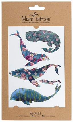 Переводные тату Miami Tattoos Whales