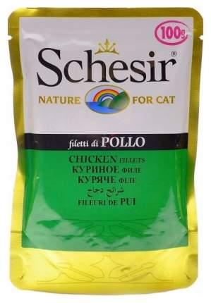 Влажный корм для кошек Schesir, цыпленок, кусочки, 100г