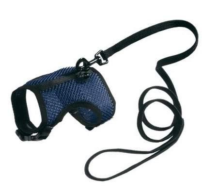 Поводок и шлейка Ferplast для кроликов, синий, черный