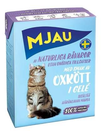 Влажный корм для кошек Mjau, говядина, 380г