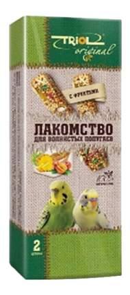 Лакомство для волнистых попугаев Triol с фруктами, 2 шт
