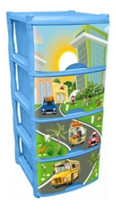 Комод детский Plastic Republic City Cars Tutti 4 ящика