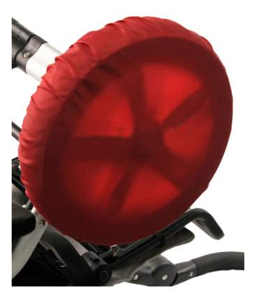 Чехол на колеса детской коляски Чудо-Чадо 4 шт. 28-38 см красный