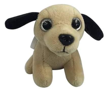 Мягкая игрушка Teddy Собака на брелке песочная с черным, 8 см