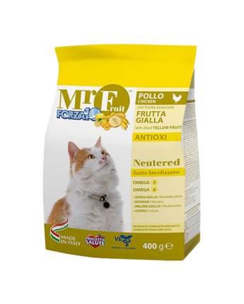 Сухой корм для кошек Forza10 Mr Fruit Neutered, для стерилизованных, курица, 0,4кг