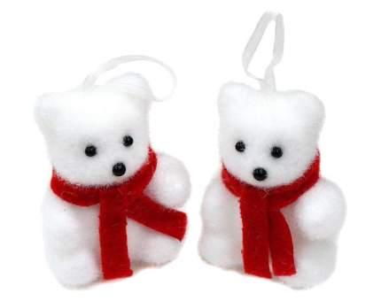 Набор елочных игрушек Новогодняя сказка Мишка 7 см 2 штуки