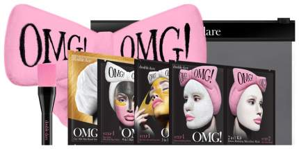 Маска для лица Double Dare OMG! Набор SPA 4 шт + Розовый бант-повязка