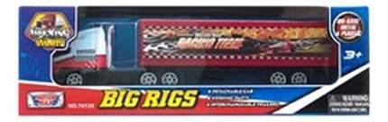 Коллекционная модель MotorMax Big Rigs с полуприцепом красно-белый