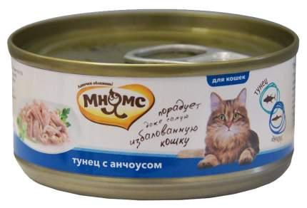Консервы для кошек Мнямс, тунец с анчоусами, 24шт, 70 г