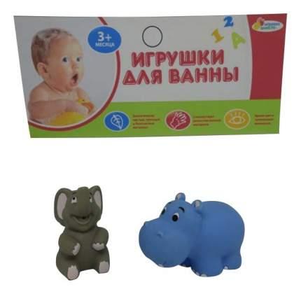 Игрушки для ванной Слон и бегемот Играем вместе LXB50_170