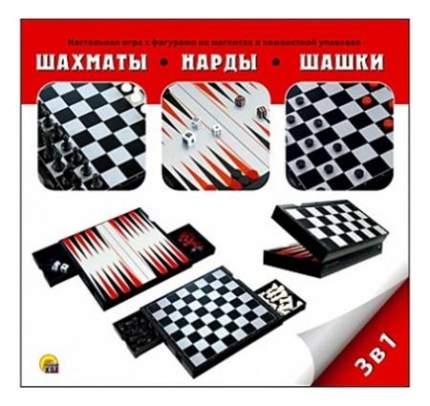 Рыжий кот Шахматы нарды и шашки магнитные 3 в 1 Рыжий кот ин-9717