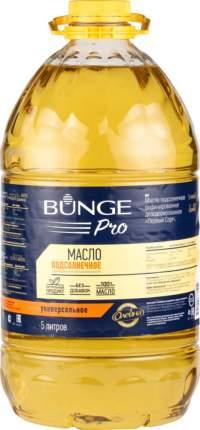 Масло подсолнечное рафинированное дезодорированное Bunge Pro универсальное первый сорт 5 л