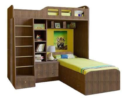 Двухярусная кровать РВ мебель Астра 4 дуб шамони/дуб шамони