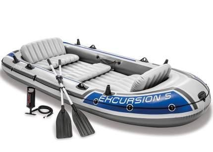 Лодка Intex Excursion 5 Set 3,66 x 1,68 м grey