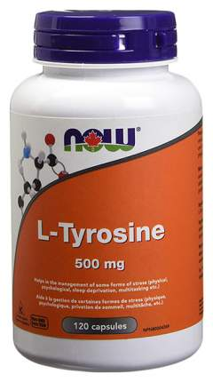 NOW Sports L-Tyrosine 120 капсул без вкуса