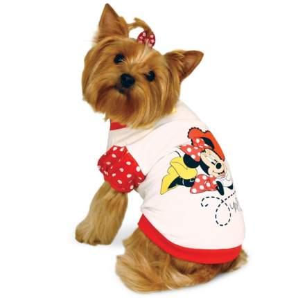 Футболка для собак Triol размер L женский, белый, красный, длина спины 32 см