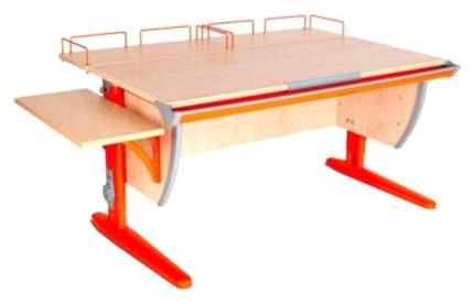 Парта Дэми СУТ-15-02 с двумя задними и боковой приставками Клен Оранжевый 120х55 см