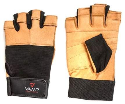 Перчатки для тяжелой атлетики и фитнеса VAMP 530, коричневые, S