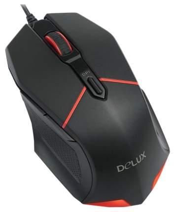 Проводная мышка Delux M601 Red/Black