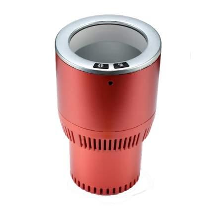 Термоподстаканник для подогрева и охлаждения напитков в авто Paltier,красно-серебристый