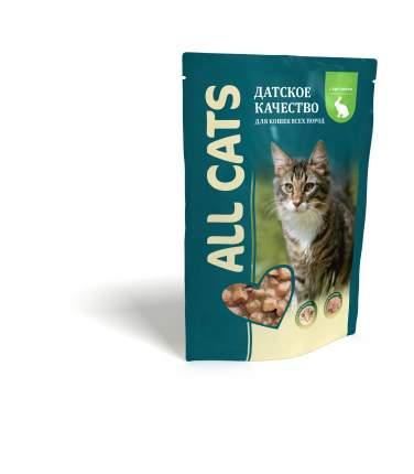 Влажный корм для кошек ALL CATS, кролик, 85 г
