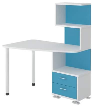 Компьютерный стол Мэрдэс СКМ-60 120x78x145 см, белый/голубой