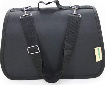 Сумка-переноска для животных HOMEPET №4, черная, 48x31x28 см