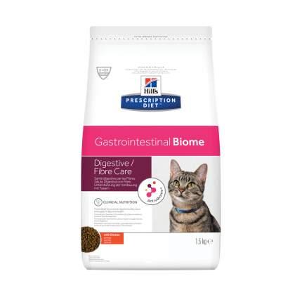 Сухой корм для кошек Hill's Prescription Diet Gastrointestinal Biome, курица, 1,5