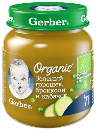 Пюре Gerber Organic Зеленый горошек, брокколи и кабачок с 7 мес. 125 г