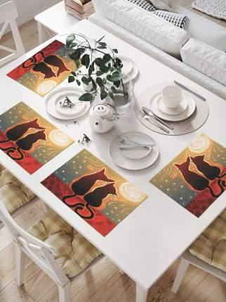 JoyArty Комплект салфеток для сервировки стола «Мечтающие коты» (32х46 см, 4 шт.)
