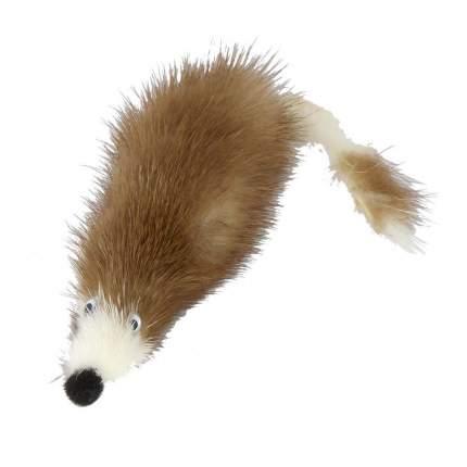 Игрушка для кошек Xody, Мышь норка M, из натуральной норки, 5х5х5см