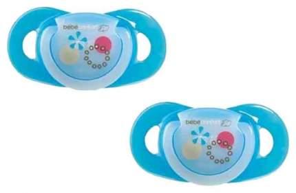 Латексная пустышка ортодонтическая Bebe Confort Safe Dummlles с кольцом 2 шт