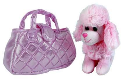 """Собака в сумочке """"Пудель розовый"""", 19 см"""