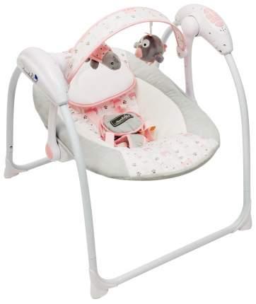 Электронные качели детские AMAROBABY Swinging Baby GRAY-PINK (серо-розовый)