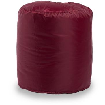 Пуф бескаркасный ПуффБери Цилиндр Оксфорд, размер S, оксфорд, бордовый