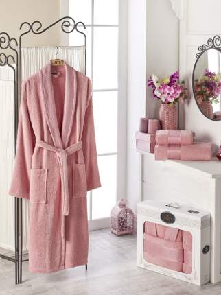 Банный комплект с халатом Philippus Marian Цвет: Розовый (xL)