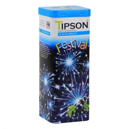 Чай Tipson Праздничная коллекция - Черная смородина черный с добавками 75 г