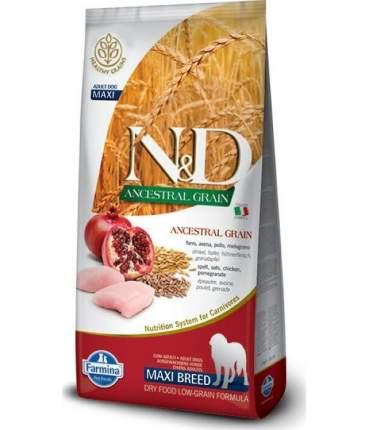 Сухой корм для собак Farmina N&D Ancestral Grain Adult Medium&Maxi, курица и гранат, 12кг