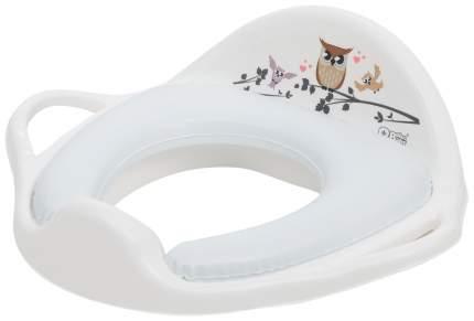 Накладка на унитаз Tega Baby Sowa мягкая, белая