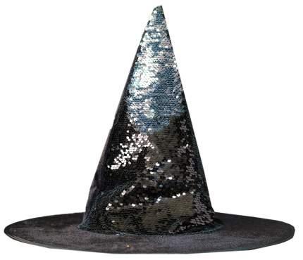 Карнавальная шляпа Sima-Land Конус с пайеткам, черный