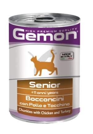 Консервы для кошек Gemon Senior, для пожилых, курица с индейкой, 400г