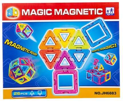 Конструктор магнитный ИГРУША в наборе 26 деталей i-JH6883