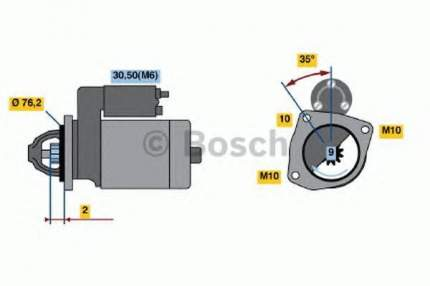 Стартер Bosch 0986021620