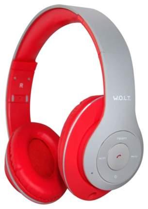 Беспроводные наушники W.O.L.T. QUB STN-260 Grey/Red