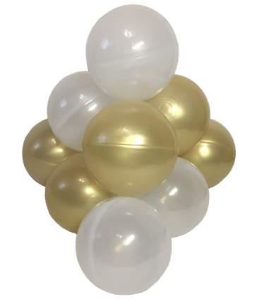 Комплект шариков Пена с золотом (50шт: золот и прозрачн) для сухого бассейна