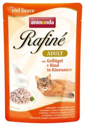 Влажный корм для кошек Animonda Rafine Adult, домашняя птица, говядина, 12шт, 100г