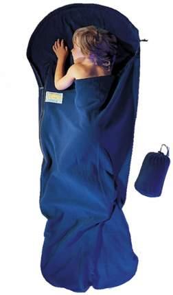 Вкладыш в спальник Cocoon Fleece Kidbag, Mummyline темно-синий 180 x 76/65 см