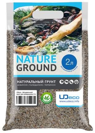 Натуральный песок для аквариумов и террариумов UDeco River Light, бежевый, 0,8-2 мм, 2 л