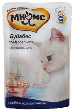 Влажный корм для кошек Мнямс Буйабес по-Марсельски, рыба, морепродукты, 12шт, 85г